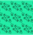 masks pattern on white background vector image vector image