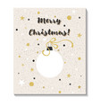 merry christmas greeting cards design vector image vector image