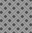 Monochrome pattern with light gray striped lattice vector image