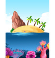 Nature scene with island on the ocean vector image vector image