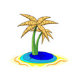 palms on island cartoon of isolated vector image