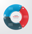 pie chart infographic template 3 options vector image vector image