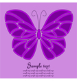 Purple butterfly background vector image vector image