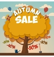 Sale advertising poster with autumn tree vector image