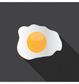 scrambled egg fried egg vector image
