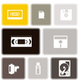 Seamless background with data storage icons vector image vector image