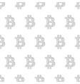 seamless pattern from sign bitcoin from polygonal vector image