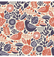 Seamless pattern with birds and floral elements vector | Price: 1 Credit (USD $1)