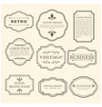 set of 9 vintage poster black sample text on vector image