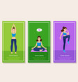 set of sport and healthy vector image vector image