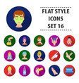 skin care set icons in black style big collection vector image
