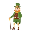 St Patricks Day Leprechaun vector image