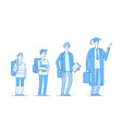 student growing college students growth stages vector image