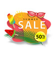 summer sale and discount sticker vector image vector image