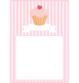Sweet retro cupcake restaurant menu card vector image vector image