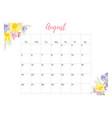 vintage floral calendar 2018 vector image vector image