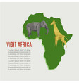 visit africa map for travel background vector image vector image