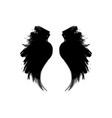 white grunge bottle wings vector image