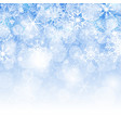 winter background christmas decoration card vector image