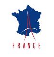 abstract of Eiffel Tower and map of France vector image