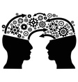 head communication with gears vector image
