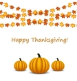 Thanksgiving celebration banner with maple leaf vector image