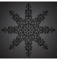 Vintage background ornament black star vector image
