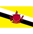 Flags of brunei vector image