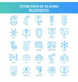 25 green and blue futuro business icon pack vector image vector image