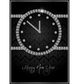 abstract diamond watch vector image vector image