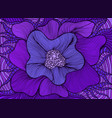 amazing colorful fantasy blooming flower violet vector image vector image