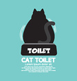 Backside Of A Cat Using Toilet vector image vector image