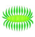 Bacteria centipede icon cartoon style vector image vector image