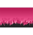 Big city silhouettes vector image vector image
