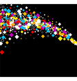 Black background with color rhombs vector image vector image