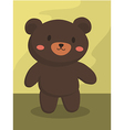 Black Bear Cartoon vector image vector image