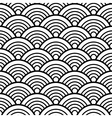 Black White Traditional Wave Japanese Chinese vector image vector image