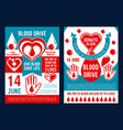 brochure for world blood donor day vector image