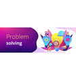 business solution concept banner header vector image vector image