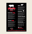 Cafe menu grill template design vector image vector image