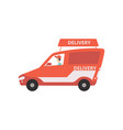 cargo delivery van fast shipping concept vector image