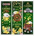 casino online gambling jackpots banners vector image vector image