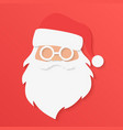 christmas greeting card santa claus portrait face vector image