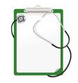 clipboard stetoscop vector image vector image