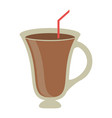 coffee hot drink in glass cup vector image