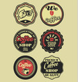 coffee vintage retro labels vector image