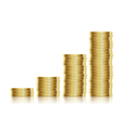 coins gold vector image vector image