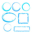 collection of abstract water frames for design vector image vector image