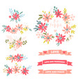 collection of flower dividers vector image vector image