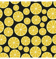 colorful sliced lemon fruits seamless pattern vector image